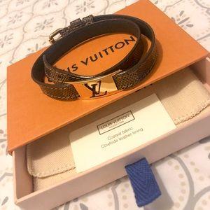 Louis Vuitton Damier Ebene Sign It Bracelet